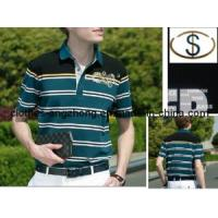 Buy cheap New Fashion Stripe Septwolves Men′s Clothing Short-Sleeve T-Shirt from wholesalers