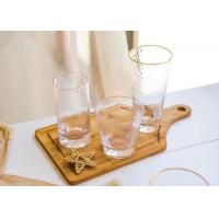 Buy cheap Round Glass Drinking Cup Sets With Gold On Cup Side For Juice And Wine from wholesalers