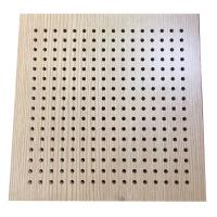 Buy cheap Melamine Wall Decoration Perforated Wooden Acoustic Wall Cladding Panels from wholesalers