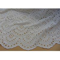 China Chemical Vintage Eyelet 100% Cotton Lace Fabric For Lady Shirt And Suit Anti Static on sale