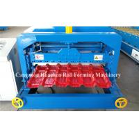 Quality 5.5KW Glazed Tile Roll Forming Machine , Roof Panel Forming Machine 0.3-0.8mm Thickness for sale