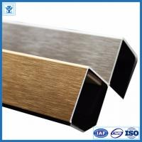 Buy cheap Brushed Gold Color Anodized Aluminum Angle Profiles for Decoration Material from wholesalers