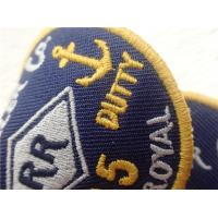 Buy cheap Eco - Friendly Custom Twill Patches Sew - On Back For Garment / Embroidered Cloth Badges from wholesalers