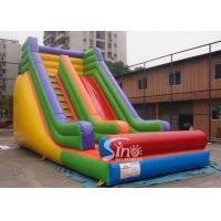 Buy cheap Outdoor 19'' High Rainbow Kids Inflatable Slide With Front Load Stopper For Parties product