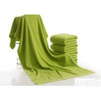 Wholesale Luxury Bath Towels Green Color , Beach Hotel Bath Towels Durable from china suppliers