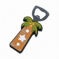 Wholesale Bottle Opener with Soft PVC Cover, Available in PMS Colors, Customized Logos and Shapes Welcomed from china suppliers