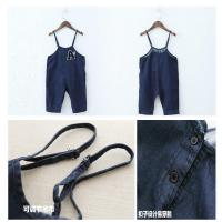 Buy cheap Dark Blue Baby Boy Overalls Jeans With Suspenders European American Style from wholesalers