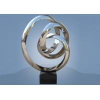 Buy cheap Large Size Stainless Steel Sculpture Circle Around For Hotel / Public Decoration from wholesalers