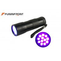 395NM Blacklight Purple Light Lamps 12 LEDs UV Flashlight 3*aaa Power Source Manufactures