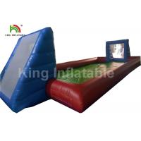 Buy cheap Giant Adults Inflatable Football Field / 0.55mm Blue Outdoor PVC Blow Up Football Pitch from wholesalers