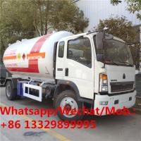Buy cheap HOT SALE! customized best price SINO TRUK HOWO 4*2 LHD 15,000Liters lpg gas dispensing truck, lpg gas transported truck from wholesalers