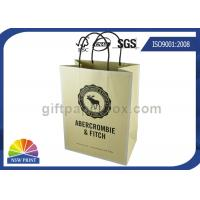 Buy cheap Custom Brand Printed Shopping Kraft Paper Bags With Twisted Paper Handle from wholesalers