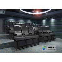 Wholesale Black 4D Cinema Equipment Chair Play 3D Films , 4D seats With Sweep Leg And Push Back Effect from china suppliers