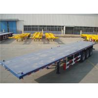 Buy cheap Carbon Steel Flatbed Semi Trailer 40000kg With Dual Line Braking System from wholesalers