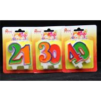 Paraffin Material Double Number Cake Candles Tearless For Party / Anniversary