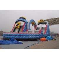Buy cheap Ourdoor Playground Big Kid Inflatable Water Slides With Obstacles And Climbing Wall from wholesalers