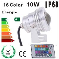 Buy cheap IP68 DC12V 10W Underwater RGB LED Bulb Lamp light multicolour changing + IR Remote from wholesalers