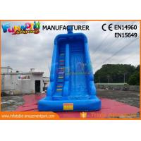 Buy cheap Blue Color Outdoor Inflatable Water Slides With Swimming Pool TUV ROHS EN71 product