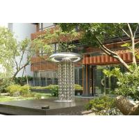 Buy cheap Modern Garden Large Outdoor Sculpture , Stainless Steel Fountain Surface Polished from wholesalers