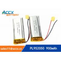 Wholesale 952050pl 3.7v lithium polymer battery with 900mAh li-ion battery for bluetooth headset from china suppliers