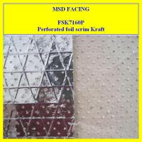 Buy cheap Perforated Aluminum Foil Laminated to Kraft Paper Reinforced by Scrim from wholesalers