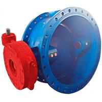 Buy cheap DN1000 Metal Double Eccentric Butterfly Valve / Cast Iron Butterfly Valve Electromotion Power from wholesalers