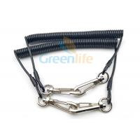 Wholesale Solid Black Cable Bungee Cord Lanyard Durable 2 Hooks With Protecting Function from china suppliers