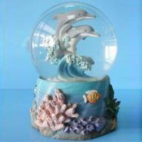 Buy cheap Resin Dolphin Snow Globe, Ideal for Promotional Gift and Home Decoration from wholesalers