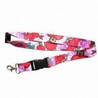 Buy cheap Promotional Safety Polyester Lanyard with Heat Transfer Printing, Customized Logos Welcome from wholesalers