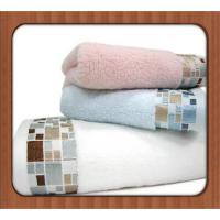 Buy cheap 100% Cotton good quality Velour Embroidery Super Cheap Face Towel from wholesalers