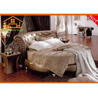 Wholesale Baroque style royal antique gold round bedroom furniture sets from china suppliers