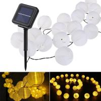 Buy cheap 20LED Solar String Lights,Hanging Solar Lanterns Fairy Lights,Solar Led String Lights Outdoor from wholesalers