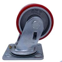 Buy cheap Cast Iron  PU Caster Wheel Swivel Plate 200kg ~ 300kg from wholesalers