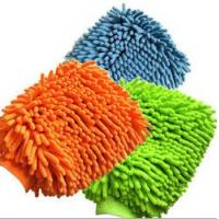Wholesale microfiber chenille mitt, cleaning gloves from china suppliers