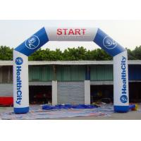 Buy cheap Commercial Inflatable Start Finish Line Hire 0.55 Mm PVC Tarpaulin Material from wholesalers