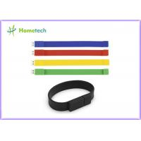 Quality Silicone Bracelet Rubber Band Wristband USB Flash Drive 1 Year Guarante for sale