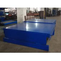 Buy cheap 6T 2000*2000MM Table Size Blue Color High Strong Steel Fixed Electric Dokc leveler from wholesalers
