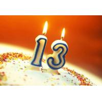 Buy cheap Safe Custom Birthday Cake Candles , Little Number Wedding Anniversary Candles from wholesalers