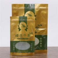 Dried Fruits / Rasin Food Grade Packaging Bags Stand Up Ziplock Bags With Clear Window Manufactures
