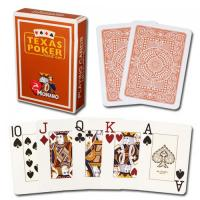 Buy cheap XF Modiano Texas Poker 2 Jumbo Index|brown Single Card Deck|100% Plastic Made in Italy|gamble cheat|magic trick from wholesalers