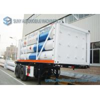 Buy cheap High Performance 12 Tubes Containe CNG Tank Trailer ISO11120 / BV from wholesalers