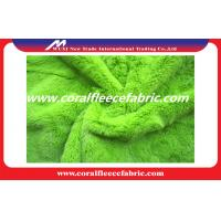 China Green Polyester Warp Knitting PV Plush Fabric for Winter Garment / Shoes on sale