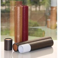 Buy cheap Classical Leather Surface Cardboard Paper Cans Packaging with SGS Certification from wholesalers