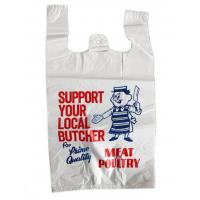 Buy cheap Printed Plastic  Shopping Bags With Handles , Recycled Biodegradable Shopping Bags from wholesalers