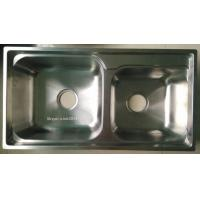 Buy cheap Big ans Small Bowl Stainless Steel Kitchen Sink WY-7540D product