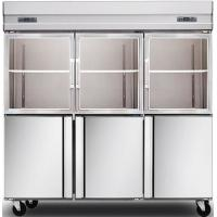 Buy cheap 1600L Glass Door Commercial Kitchen Refrigerator , Stainless Steel Kitchen Appliances from wholesalers