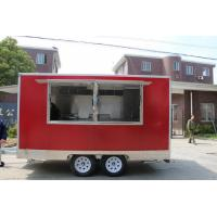 Buy cheap 3.9M Length Red Color Fast Street Commercial Food Vans With CE Certificates from wholesalers