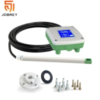 Buy cheap 3 in 1 Air Velocity Volume Temperature Sensor with LCD Display air flowmeter 4-20mA 0-5V 0-10V transducer totameter from wholesalers