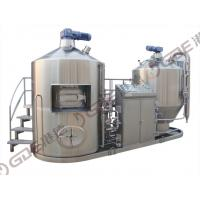 Steam Heated 50HL Micro Breweries , Stainless Steel Lauter Whirlpool Tun + Mash Kettle Tun Manufactures
