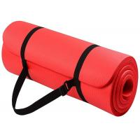 Buy cheap Premium Nbr Yoga Mat Yoga Exercise Equipment Yoga Mat Nbr With Strap from wholesalers